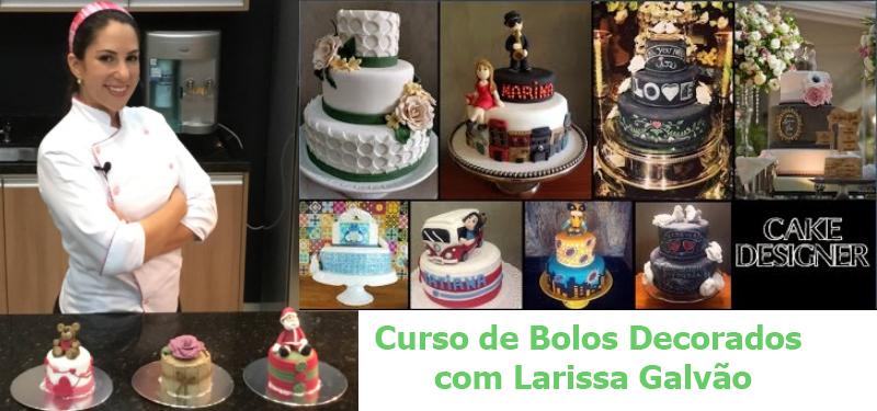 Curso de Bolos Decorados Com Larissa Galvão.