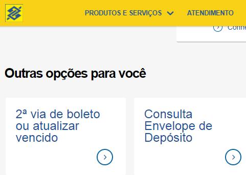2 via boleto banco do brasil atualizar