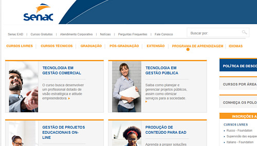 senac inscricoes cursos gratuitos