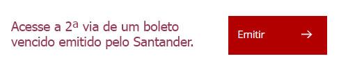 atualizar boleto Santander vencido