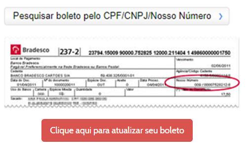 como atualizar boleto atrasado banco do brasil