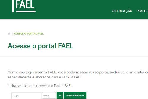 acesso portal FAEL aluno