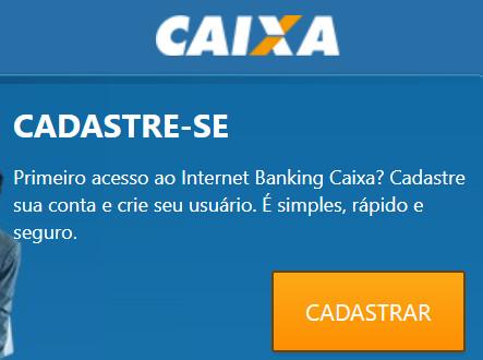 caixa economica internet banking cadastro