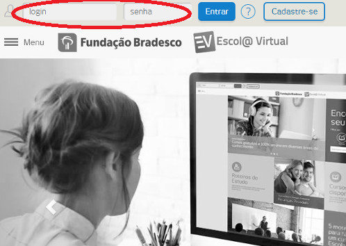 cursos fundacao bradesco login